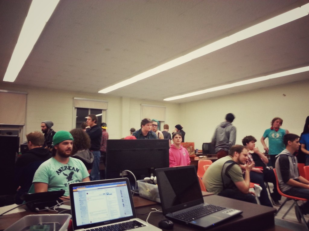 Students at a Smash Bros. tournament in New Brunswick - Photo by Shawn Goff