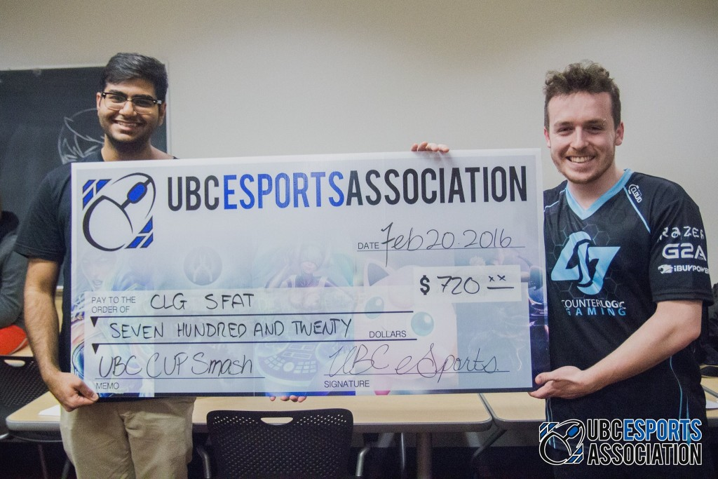 Big money is up for grabs at UBC's Smash Bros. tournament. - Photo by UBC eSports Association